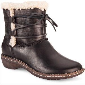 UGG Boots Shearling Boho Capsia Black Leather 6
